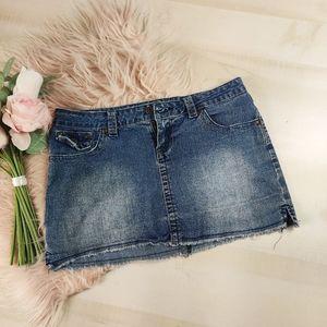 YMI denim jean mini skirt